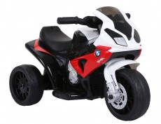 Детский электромотоцикл JT5188 красный (кожа)