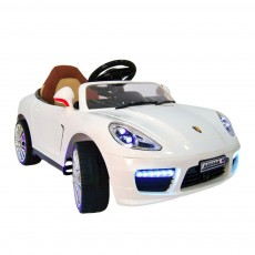 Детский электромобиль A444AA белый (кожа)