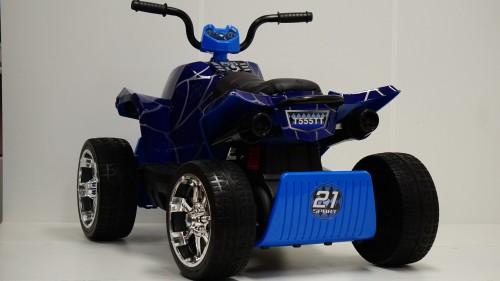 Детский электроквадроцикл T555TT синий паук