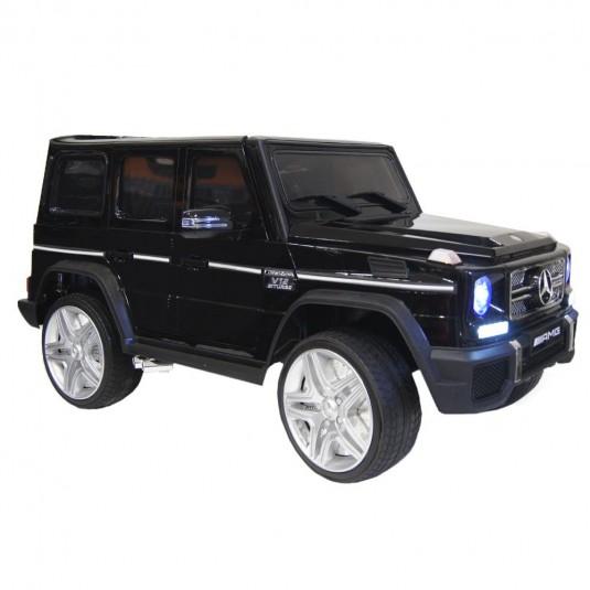 Детский электромобиль Мercedes-Benz G65 (4*4) черный глянец