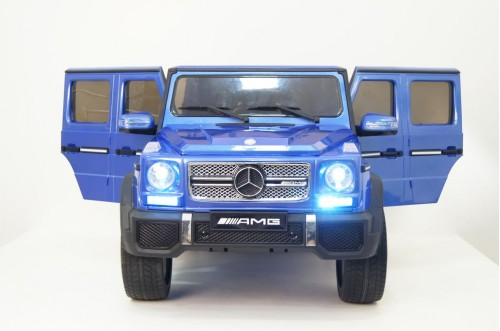 Детский электромобиль Мercedes-Benz G65 (4*4) синий глянцевый