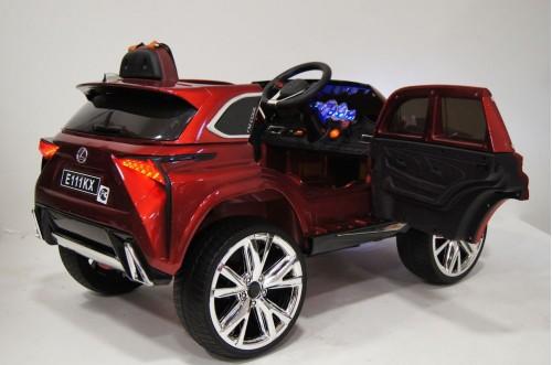Детский электромобиль E111KX вишневый глянец