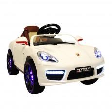 Детский электромобиль A444AA белый (кожа-EVA)