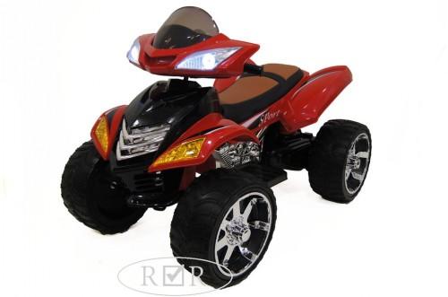 Детский электроквадроцикл Е005КХ красный (кожа)