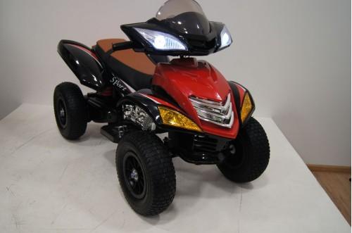 Детский электроквадроцикл Е005КХ-А красный (кожа)