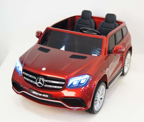 Детский электромобиль GLS63 AMG вишневый глянец