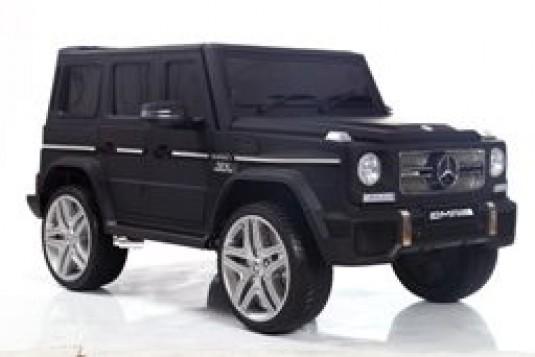 Детский электромобиль Мercedes-Benz G65 (4*4) черный матовый