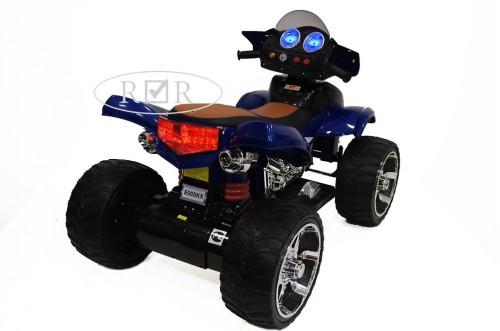 Детский электроквадроцикл E005KX синий (кожа)