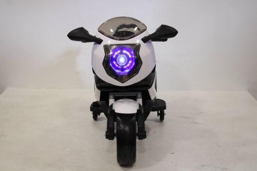 Детский электромотоцикл К333КК белый