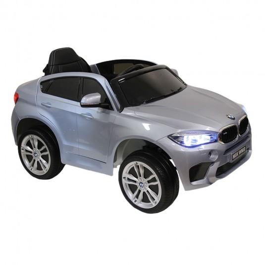 Детский электромобиль BMW X6M (JJ2199) серебристый глянец