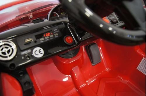 Детский электромобиль А444АА красный (кожа)