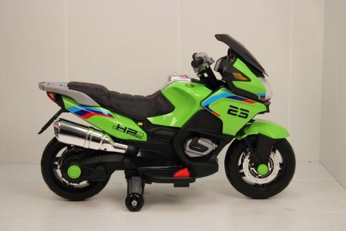 Детский электромотоцикл H222HH зеленый