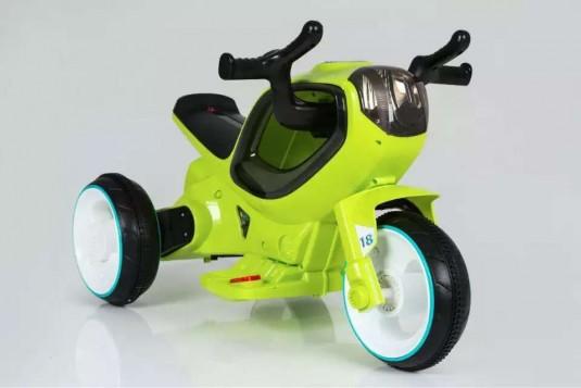 Детский электромотоцикл HC-1388 зеленый