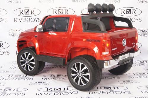 Детский электромобиль Volkswagen Amarok вишневый глянец