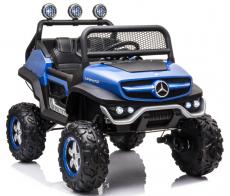 Детский электромобиль Mercedes-Benz Unimog Mini P777BP синий глянец