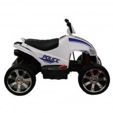 Детский электроквадроцикл T555TT белый-полиция