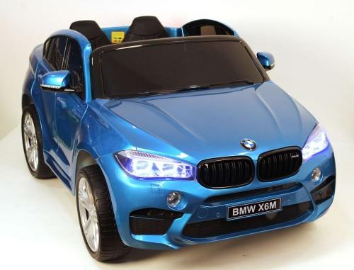 Детский электромобиль BMW X6M (JJ2168) синий глянец