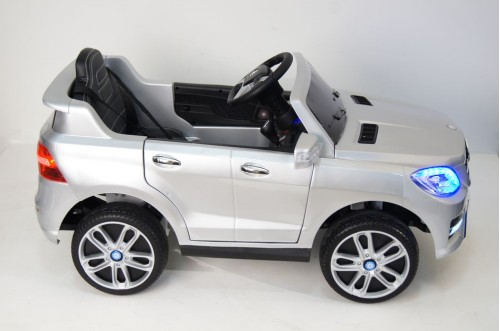 Детский электромобиль Mercedes-Benz ML350 серебристый глянец