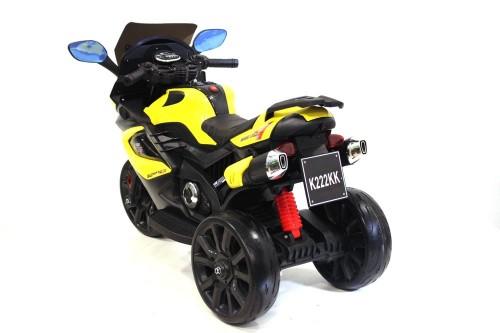 Детский трицикл K222KK желтый