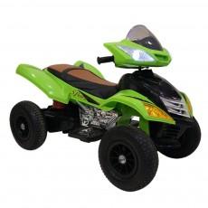 Детский электроквадроцикл Е005КХ-А зеленый (кожа)