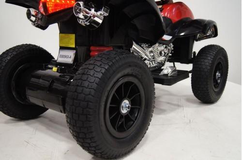 Детский электроквадроцикл E005KX-A красный (кожа)