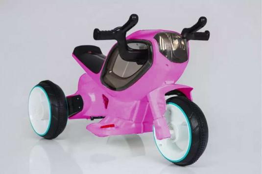 Детский электромотоцикл HC-1388 розовый