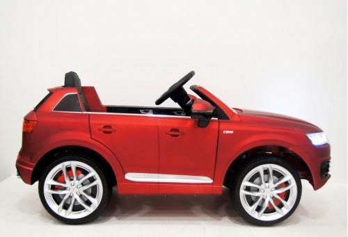 Детский электромобиль Ауди Q7 quattro красный матовый