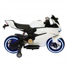 Детский электромотоцикл А001АА белый