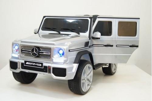 Детский электромобиль Мercedes-Benz G65 (4*4) серый глянцевый