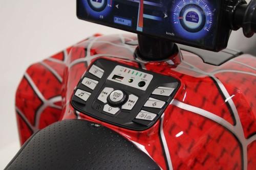 Детский электроквадроцикл T777TT красный-spider