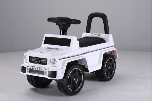 Детский толокар Mercedes-Benz G63 (JQ663) белый-кожа