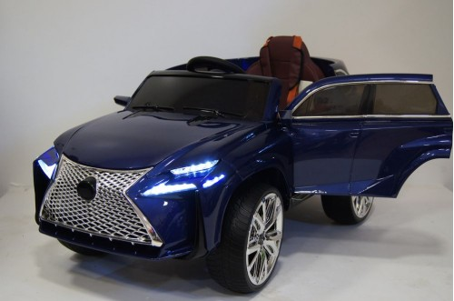 Детский электромобиль E111KX синий глянец