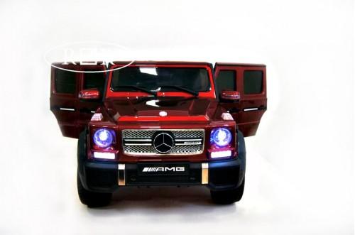 Детский электромобиль Мercedes-Benz G65 (4*4) вишневый глянцевый