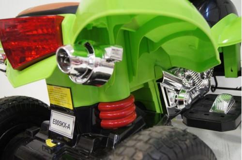 Детский электроквадроцикл E005KX-A зеленый (кожа)