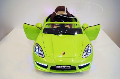 Детский электромобиль А444АА зеленый (кожа)