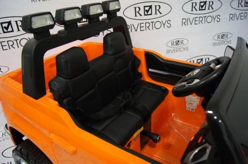 Детский электромобиль Toyota Tundra Mini (JJ2266) оранжевый