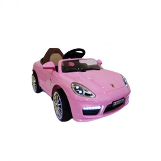 Детский электромобиль A444AA розовый (кожа)