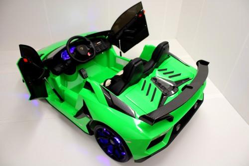 Детский электромобиль Lamborghini Aventador SVJ (A111MP) зеленый