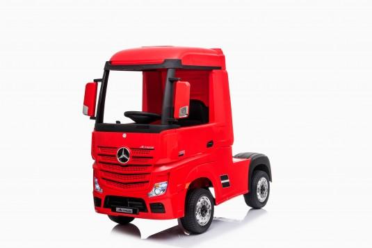 Детский электромобиль Mercedes-Benz Actros 4WD с прицепом (HL358) вишневый глянец