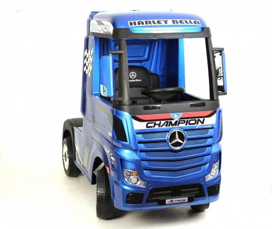 Детский электромобиль Mercedes-Benz Actros 4WD с прицепом (HL358) синий глянец