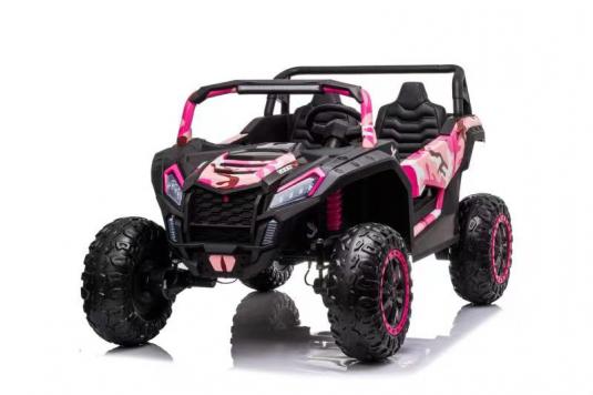 Детский электромобиль M222MM розовый камуфляж