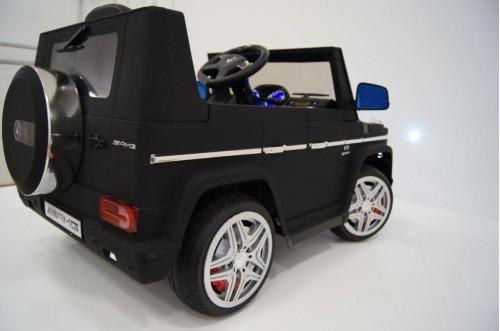 Детский электромобиль Benz G65 (LS-528) черный матовый