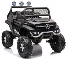 Детский электромобиль Mercedes-Benz Unimog Mini P777BP черный глянец