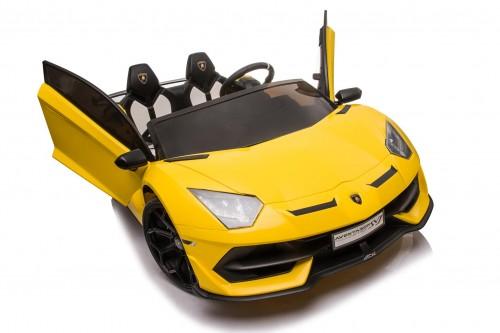 Детский электромобиль Lamborghini Aventador SVJ (A111MP) желтый