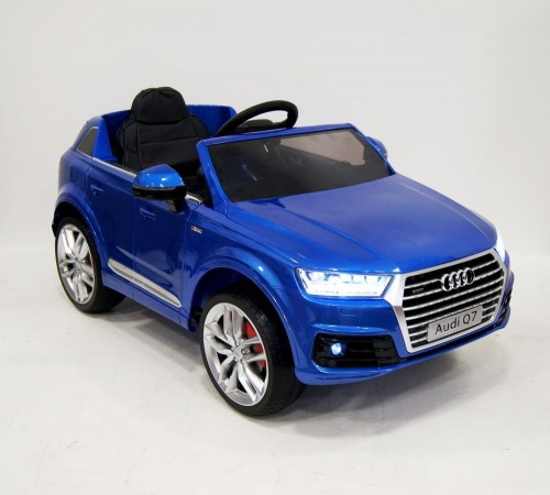 Детский электромобиль Ауди Q7 quattro синий глянец
