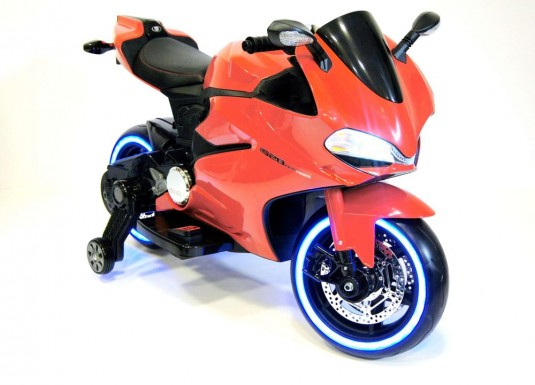 Детский электромотоцикл А001АА оранжевый