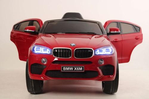 Детский электромобиль BMW X6M (JJ2199) вишневый глянец