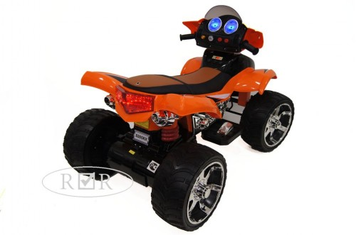 Детский электроквадроцикл Е005КХ оранжевый (кожа)