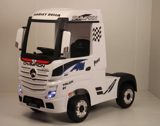 Детский электромобиль Mercedes-Benz Actros 4WD с прицепом (HL358) белый