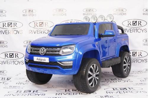 Детский электромобиль Volkswagen Amarok синий глянец
